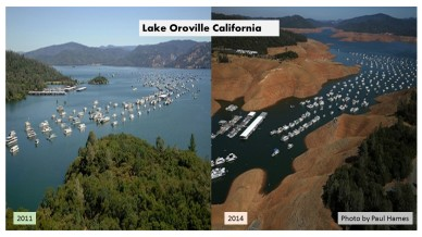 Lake Oroville reservior